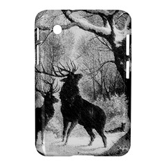Stag Deer Forest Winter Christmas Samsung Galaxy Tab 2 (7 ) P3100 Hardshell Case