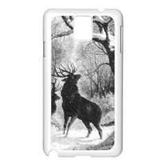 Stag Deer Forest Winter Christmas Samsung Galaxy Note 3 N9005 Case (White)