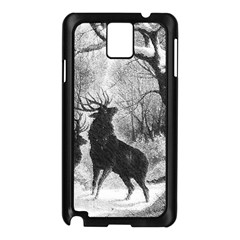 Stag Deer Forest Winter Christmas Samsung Galaxy Note 3 N9005 Case (Black)