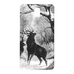 Stag Deer Forest Winter Christmas Samsung Galaxy Note 3 N9005 Hardshell Back Case
