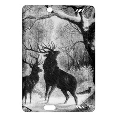 Stag Deer Forest Winter Christmas Amazon Kindle Fire Hd (2013) Hardshell Case