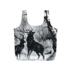 Stag Deer Forest Winter Christmas Full Print Recycle Bags (s)