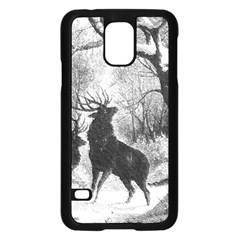 Stag Deer Forest Winter Christmas Samsung Galaxy S5 Case (black)
