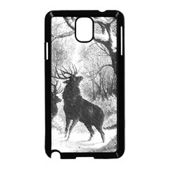 Stag Deer Forest Winter Christmas Samsung Galaxy Note 3 Neo Hardshell Case (Black)