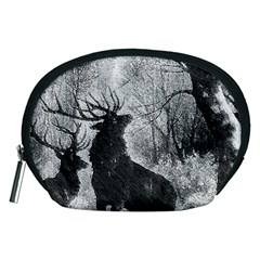 Stag Deer Forest Winter Christmas Accessory Pouches (medium)