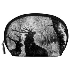 Stag Deer Forest Winter Christmas Accessory Pouches (Large)