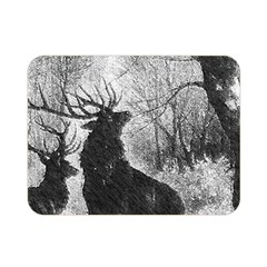 Stag Deer Forest Winter Christmas Double Sided Flano Blanket (mini)