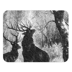Stag Deer Forest Winter Christmas Double Sided Flano Blanket (large)