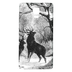 Stag Deer Forest Winter Christmas Galaxy Note 4 Back Case
