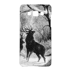 Stag Deer Forest Winter Christmas Samsung Galaxy A5 Hardshell Case