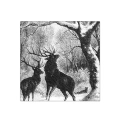 Stag Deer Forest Winter Christmas Satin Bandana Scarf