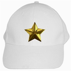 Stars Gold Color Transparency White Cap