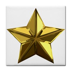 Stars Gold Color Transparency Tile Coasters