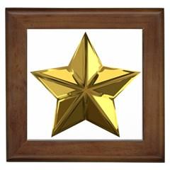 Stars Gold Color Transparency Framed Tiles