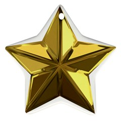 Stars Gold Color Transparency Ornament (Star)