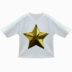 Stars Gold Color Transparency Infant/toddler T Shirts