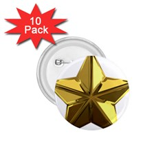 Stars Gold Color Transparency 1.75  Buttons (10 pack)
