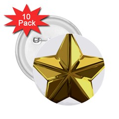 Stars Gold Color Transparency 2.25  Buttons (10 pack)