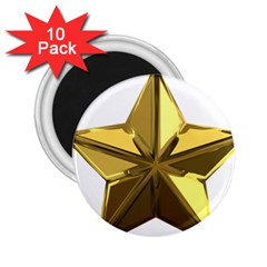 Stars Gold Color Transparency 2 25  Magnets (10 Pack)