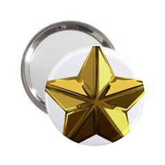 Stars Gold Color Transparency 2.25  Handbag Mirrors