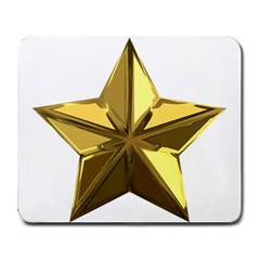 Stars Gold Color Transparency Large Mousepads