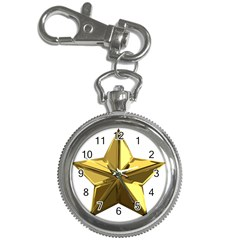 Stars Gold Color Transparency Key Chain Watches