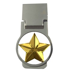 Stars Gold Color Transparency Money Clips (round)