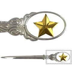 Stars Gold Color Transparency Letter Openers