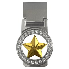 Stars Gold Color Transparency Money Clips (cz)