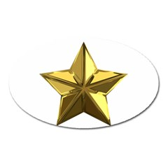Stars Gold Color Transparency Oval Magnet