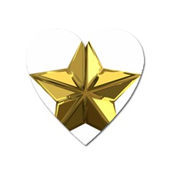 Stars Gold Color Transparency Heart Magnet