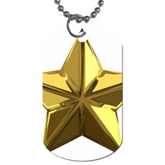 Stars Gold Color Transparency Dog Tag (one Side)