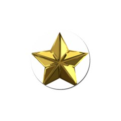 Stars Gold Color Transparency Golf Ball Marker (4 Pack)