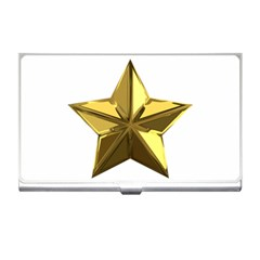 Stars Gold Color Transparency Business Card Holders