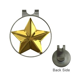 Stars Gold Color Transparency Hat Clips with Golf Markers
