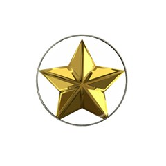 Stars Gold Color Transparency Hat Clip Ball Marker (4 Pack)