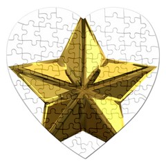 Stars Gold Color Transparency Jigsaw Puzzle (Heart)