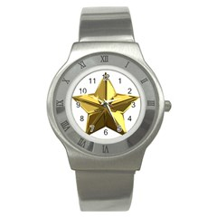 Stars Gold Color Transparency Stainless Steel Watch