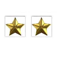 Stars Gold Color Transparency Cufflinks (square)