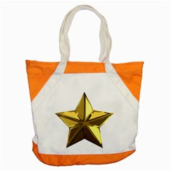 Stars Gold Color Transparency Accent Tote Bag