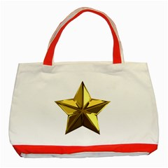 Stars Gold Color Transparency Classic Tote Bag (red)