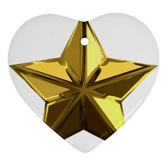 Stars Gold Color Transparency Heart Ornament (two Sides)