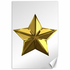 Stars Gold Color Transparency Canvas 12  x 18