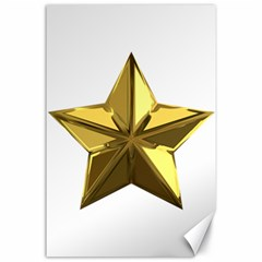 Stars Gold Color Transparency Canvas 24  x 36