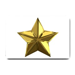 Stars Gold Color Transparency Small Doormat