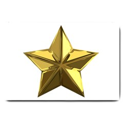 Stars Gold Color Transparency Large Doormat