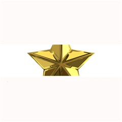 Stars Gold Color Transparency Large Bar Mats