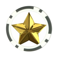 Stars Gold Color Transparency Poker Chip Card Guard