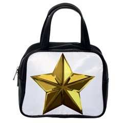 Stars Gold Color Transparency Classic Handbags (one Side)