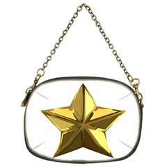 Stars Gold Color Transparency Chain Purses (One Side)